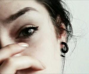 black, eyes, and hair image