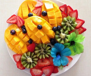 fruit, food, and flowers image