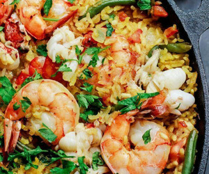 delicious, shrimp, and yummy image