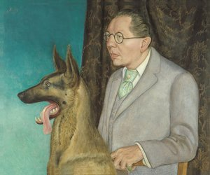 Otto Dix and hugo erfurt with dog image