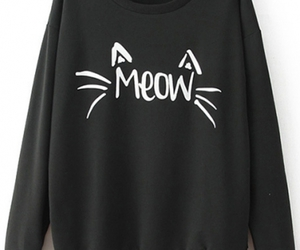 cat, black, and meow image