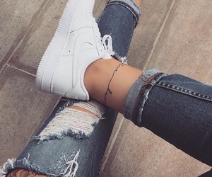 nike, jeans, and tattoo image