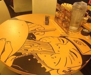 yellow, japan, and table image