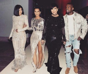 kylie jenner, kanye west, and kim kardashian image
