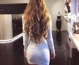 hair, dress, and beauty image