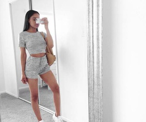 black, shorts, and Calvin Klein image