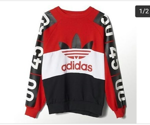 adidas, goals, and sweatshirt image