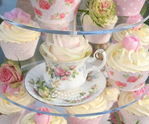 cupcakes, vintage, and pastel image