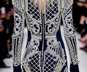 dress, Balmain, and catwalk image