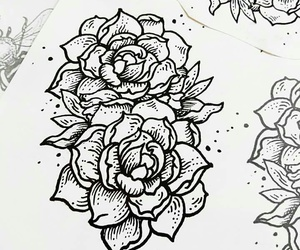 draw, flower, and tattoo image