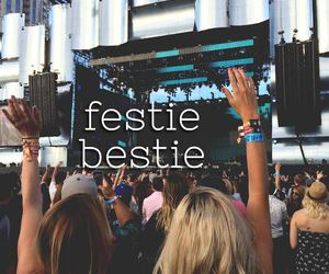 festival, party, and bestie image
