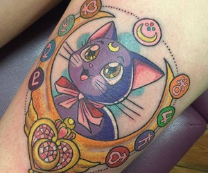 moon, sailor moon, and tattoo image