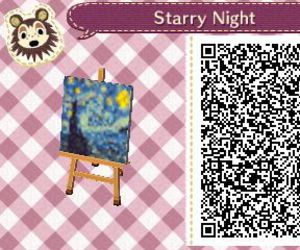 animal crossing, qr code, and starry night image
