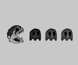 pacman, zombie, and art image