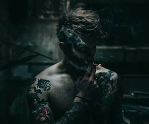 boy, smoke, and tattoo image