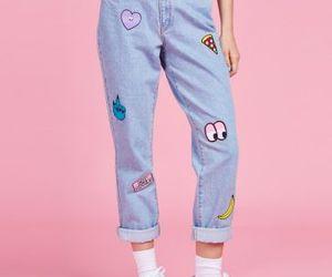 bottons, girl, and pink image