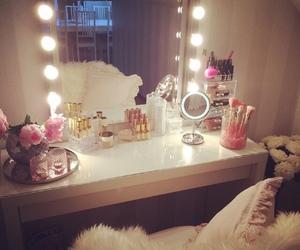 room, vanity, and make up image