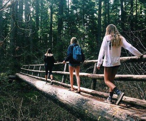 friends, adventure, and nature image