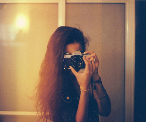 camera, girl, and hair image