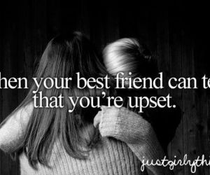 best friends, friends, and upset image