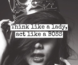 boss, quotes, and lady image
