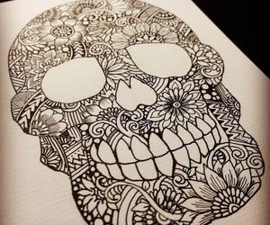 art, drawing, and zentangle image