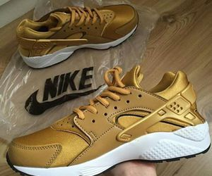 shoes, gold, and nike image