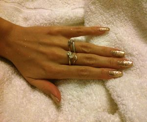 fashion, fingers, and glitter image