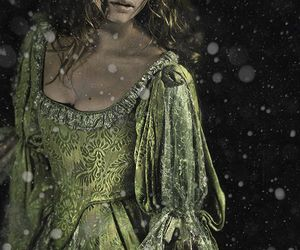 dress, medieval, and green image
