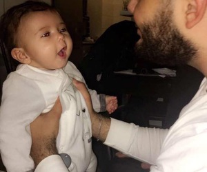 arabic, baby, and dad image