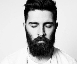 beard, man, and black and white image