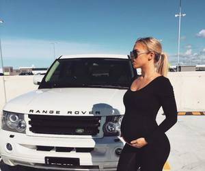 car, range rover, and pregnant image