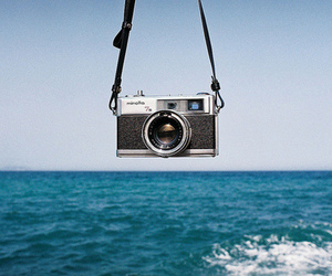 camera, sea, and photography image