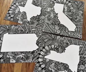california, drawing, and ink image