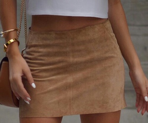 brown, skirt, and wifey image