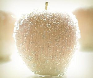 aesthetic, droplets, and apple image