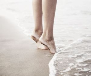 feet, sea, and water image