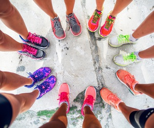 colorfull, fashion, and running image