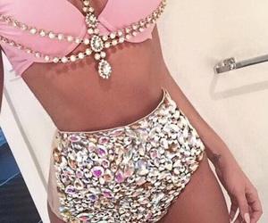 pink, bikini, and body image