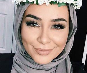 girl, beautiful, and hijab image