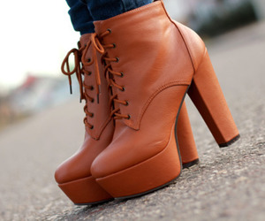 shoes, brown, and style image