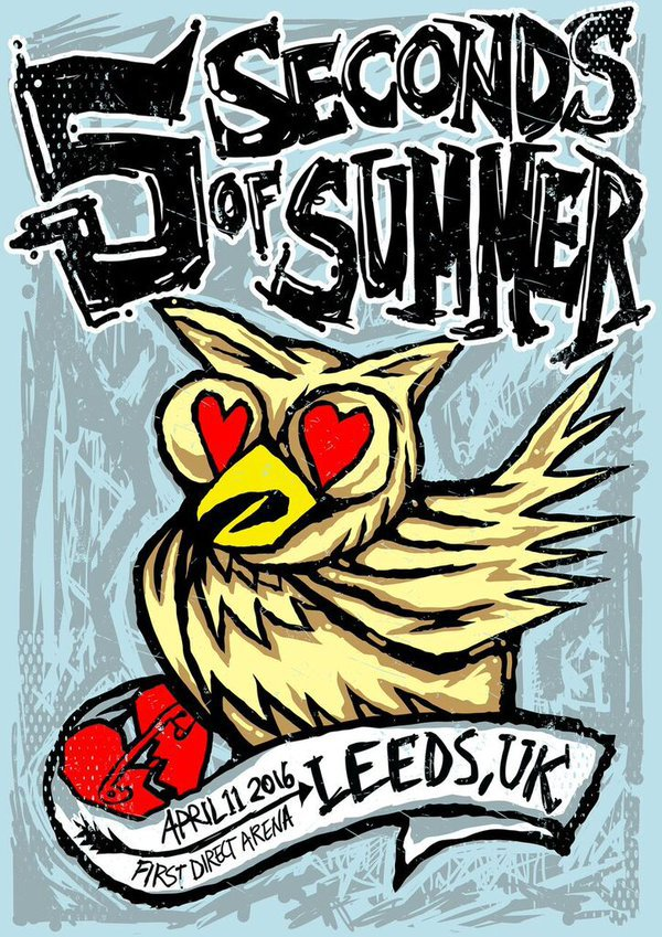 5sos, 5 seconds of summer, and Leeds image