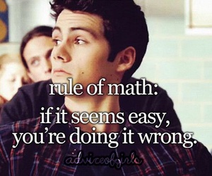 maths, qoute, and teen wolf image