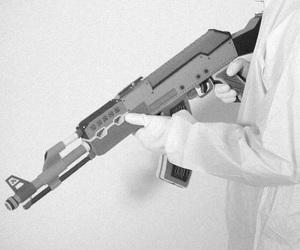 cyberpunk, weapon, and futuristic image