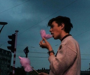 blue, pink, and troye image
