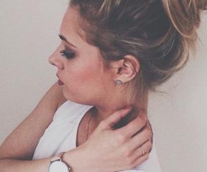 blonde, blonde girl, and makeup image