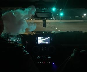 smoke, car, and night image