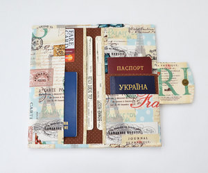 etsy, vegan wallet, and boarding pass holder image