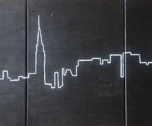 city, new york, and art image
