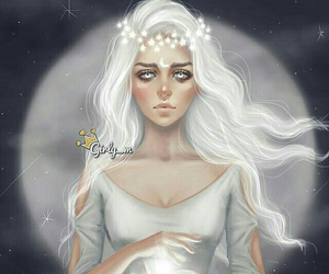 girly_m, moon, and art image